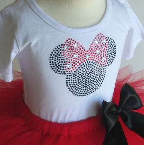 6X SS RED Minnie Mouse costume Disney dress tutu top