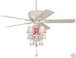 NEW 52 GORGEOUS 3 SPEED WHITE CEILING FAN+LIGHT KIT