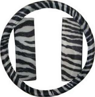 White Black Zebra Car SUV Truck Seat Covers & Accessories #5