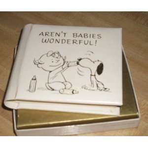 Vintage 1970s Hallmark Peanuts Snoopy Puppy Baby Photo Album Baby