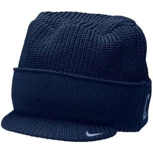 Nike North Carolina Tar Heels (UNC) Navy Blue Cuffed Bill Knit Beanie