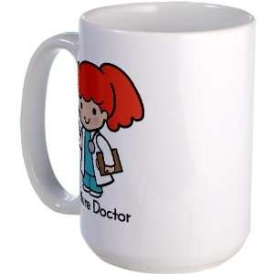 Future Doctor   girl Baby Large Mug by