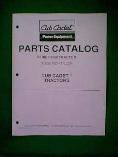 IH CUB CADET TRACTOR # 002 30 REAR TILLER PARTS MANUAL