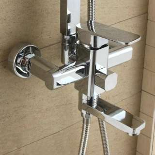 Newly Chrome Bathroom Rain Shower Faucet 8 Shower Head Faucet Set YS