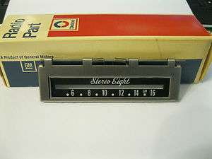 AM 8 TRACK RADIO TAPE PLAYER DOOR # 1223514 GM DELCO ORIGINAL