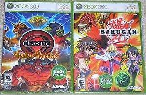 XBox 360 Game Lot   Bakugan Battle Brawlers (Used) Chaotic Shadow