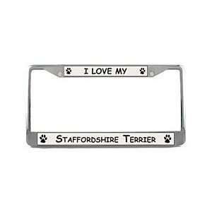 American Staffordshire Terrier License Plate Frame Sports