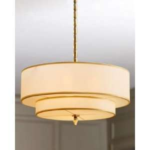 Luxo Collection 5 Light 26 Antique Brass Hanging Pendant