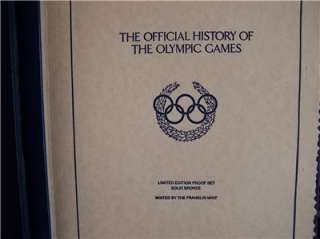 FRANKLIN MINT OFFICIAL HISTORY OLYMPIC GAMES MEDAL SET