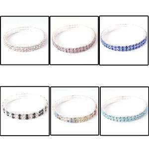 Pretty Fashion Crystal Womens Double Layer Charms Bracelets Jewelry