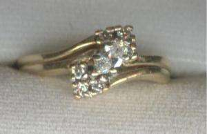 37 ctw Marquise Diamond Ring 14K Yellow Gold
