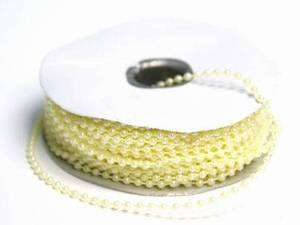 3MM FAUX PEARL IVORY BEADS CRAFT ROLL 24 YD