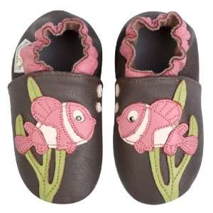 Momo Baby Soft Sole Baby Shoes   Fish Brown 18 24 Months Baby