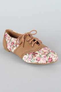 CAMEL Womens Floral Lace Up Oxford Flats Size 6 to 10