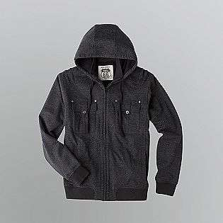 Mens Utility Style Hooded Fleece Jacket  Route 66 Clothing Mens