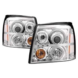 03 06 Cadillac Escalade Chrome CCFL Halo Projector Headlights /w Amber