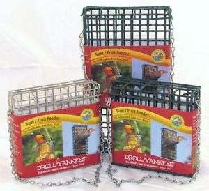 Droll Yankees Suet Fruit Bird Feeder   3 Sizes/Colors