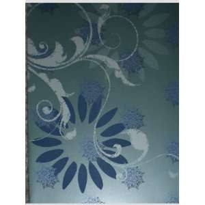 Green Blue Crystalized Snowflakes / Flower Note Cards w