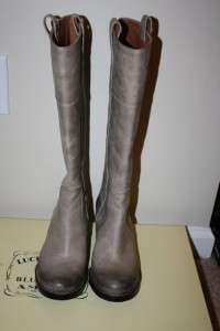 Lucky Brand Hibiscus Riding Boot Womens Silver Cloud NIB SZ 6.5 US