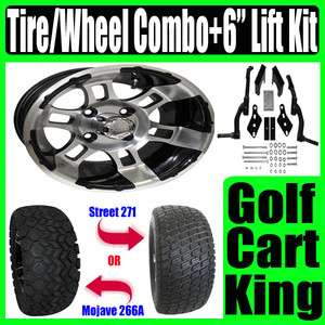 Club Car DS Golf Cart Lift Kit, 12 Wheel & Tire Combo