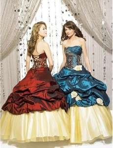 Graceful Strapless Shirred Embroidery Quinceanera dresses Ball Gowns