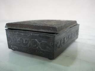 1920s ANTIQUE MINIATURE JAPANESE METAL JEWELRY BOX