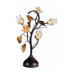 ET2 E20399 26 Amber Murano Bloom Tropical / Safari Table Lamp from the