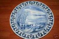 Large Antique Delft Blue Wall Plate near A. Schelfhout