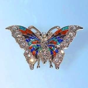 Pin Colorful Brooch Swarovski Crystal Orange Green Bl Jewelry
