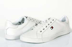 TOMMY HILFIGER MENS SHOES NEW WITH TAGS FLAG LACE UP SNEAKERS WHITE