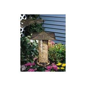 Pewter Silver 6 Pinecone Tube Bird Feeder Patio, Lawn & Garden