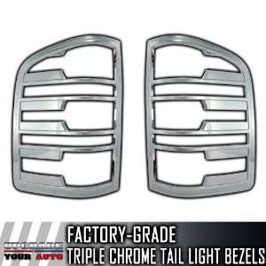 2007 2012 Chevy Silverado 2pc Chrome Tail Light Bezels