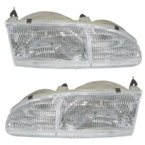 94 95 Ford Thunderbird T bird Headlights Headlamps Head Lights Lamps