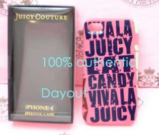 JUICY COUTURE VIVA LA HARD CASE COVER iPhone 4 PINK NIB