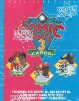 Comic Ball 3 Trading Cards Box MLB Looney Tunes