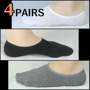 Socks 4pairs high quality men perfect no show ankle low cut cotton