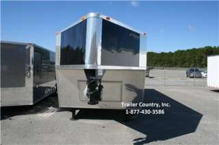 32 8.5X32 ENCLOSED GOOSENECK CARGO CAR HAULER TRAILER V NOSE