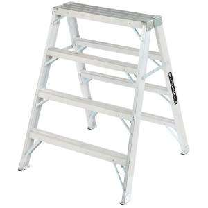Louisville Ladder 3 ft. Aluminum Twin Step Ladder with 300 lb. Load