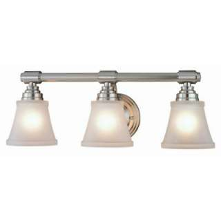 Hampton Bay 3 Light Brushed Nickel Bath Light  DISCONTINUED HD208265