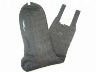 Ellis Mens Pima Cotton Dress Socks Gray Brown NWT Sz 6 1/2 12 Spandex
