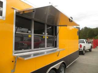 NEW 8.5 x 20 YELLOW FOOD EVENT BBQ ENCLOSED RACING CONCESSION TRAILER