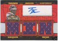 2006 TRIPLE THREADS TARVARIS JACKSON AUTO JERSEY 01/18