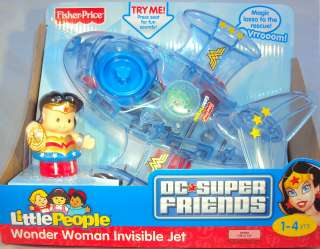 Fisher Price Little People Wonder Woman Invisible Jet DC Super Friends