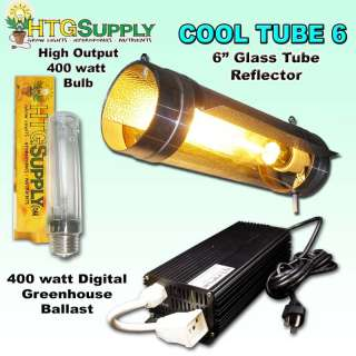 Digital 400 watt HPS GROW LIGHT w 6 Cool Tube cooltube
