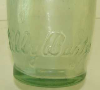 1920s Billy Baxter Beer Ten Pin Shape 10 Fl Ozs Embossed Beer Bottle