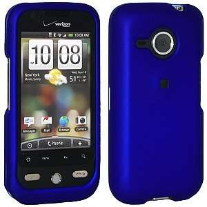 New Amzer Rubberized Blue Snap Crystal Hard Case For Htc