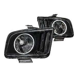 Anzo USA 121033 Ford Mustang Black With Halo Ccfl Headlight Assembly