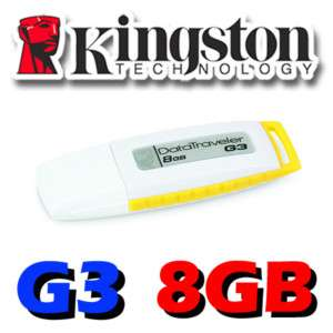 Kingston DataTraveler DT G3 USB Flash Pen Drive 8GB 8G