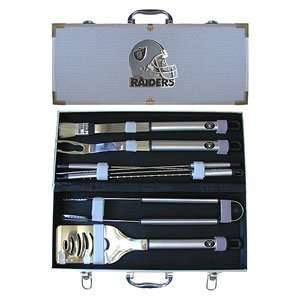 Oakland Raiders NFL Barbeque Utensil Set w/Case (8 Pc.)