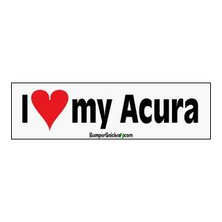 I Love My Acura   bumper stickers (Medium 10x2.8 in.) Automotive